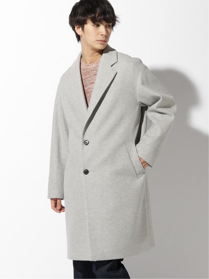 [Rakuten Fashion](M)WOOLLY TECBIGコート GLOBAL WORK グローバルワーク コート/ジャケット ハーフコート グレー ネイビー ブラウン【送料無料】