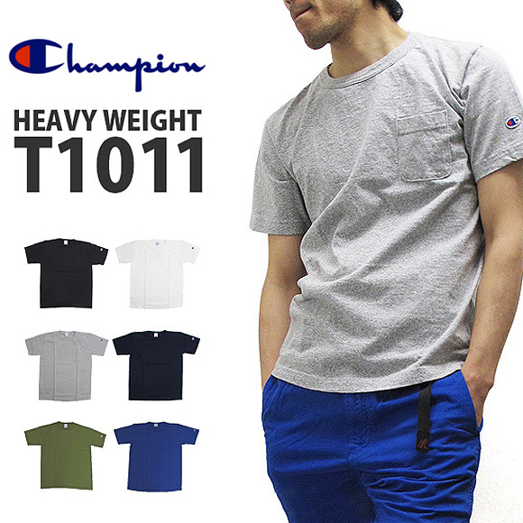 供有Champion冠军T恤C5-B303 T1011系列有重大影响的人物口袋的短袖T恤素色HEAVY WEIGHT JERSEY POCKET S/S T-SHIRT糖果舵街道休闲体育男性使用的人02P03Dec16