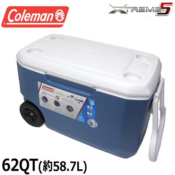 【送料無料】コールマン COLEMAN クーラーボックス 62QT 3000004025 エクストリーム クーラーボックス 大容量58.7L XTREME COOLERS BOX アウトドア キャンプ 運動会 釣り フィッシング メール便不可