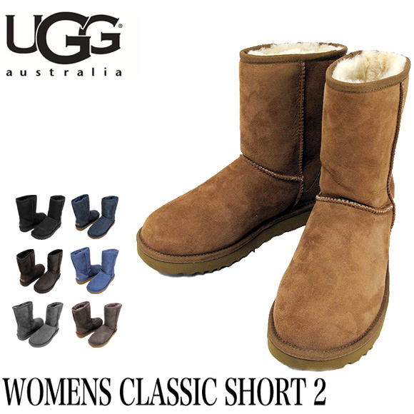UGG ムートンブーツ WOMENS CLASSIC SHORT II アグ オーストラリア クラシックショート2 レディース 1016223