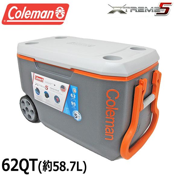 コールマン COLEMAN クーラーボックス 62QT 3000004485 エクストリーム クーラーボックス 大容量58.7L XTREME COOLERS BOX アウトドア キャンプ 運動会 釣り フィッシング