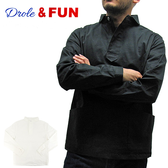 Drole&FUN ドロールアンドファン DF-S-002 ショール衿プルオーバーシャツ SCHOLL PULLOVER SHIRT メンズ【メール便不可】02P05Apr14M