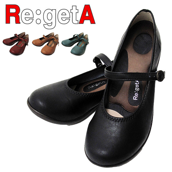 Re:getA リゲッタ レディース ワンストラップパンプス R-2361 ONESTRAP PUMPS 靴 パンプス 日本製 MADE IN JAPAN