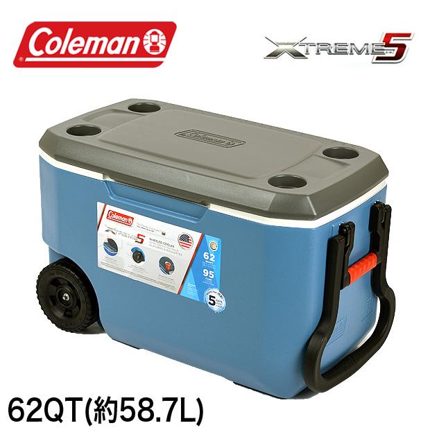コールマン COLEMAN クーラーボックス 62QT 3000005891 エクストリーム クーラーボックス 大容量58.7L XTREME COOLERS BOX アウトドア キャンプ 運動会 釣り フィッシング メール便不可