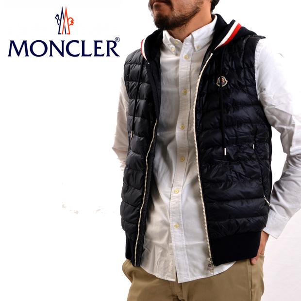 MONCLER GILET 84204 00 80985 モンクレール ダウン X スウェット ベスト 大きいサイズあり