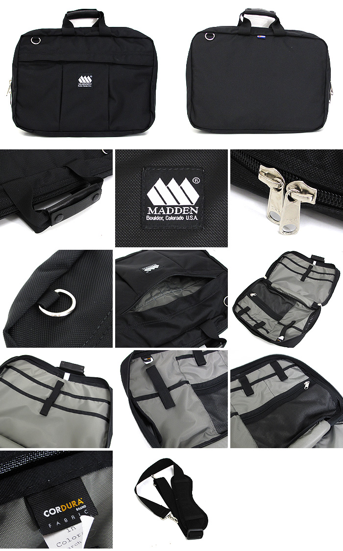 Meden MADDEN COMMUTE BRIEF CASE ballistic Briefcase handheld tote bag shoulder bag business bag for work commuting men's men's non-P19Jul15