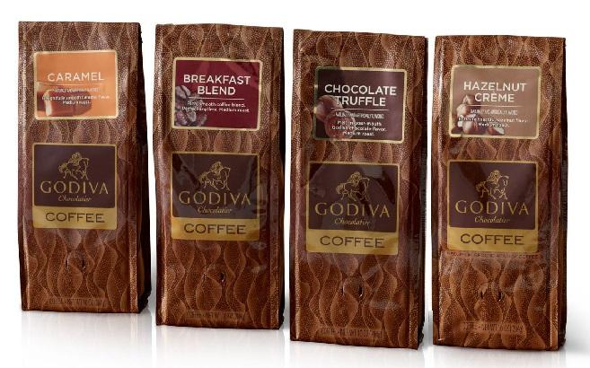 Godiva-Godiva coffee choice eat 2 pieces!