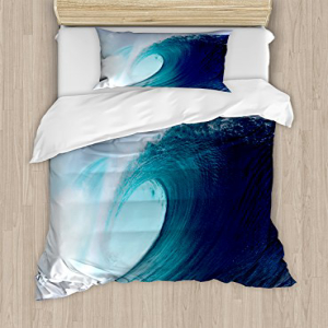 Ocean Decor Duvet Cover Set by Ambesonne, Tropical Surfing