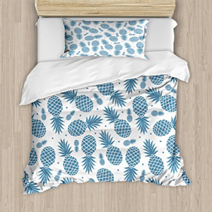 Ambesonne Pineapple Duvet Cover Set Twin Size, Island Them