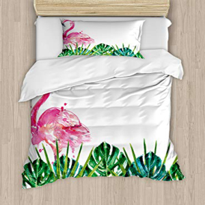 Ambesonne Tropical Duvet Cover Set Twin Size, Exotic Natur