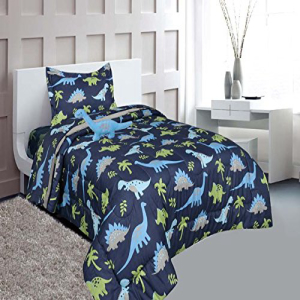 MB Home Collection Twin Size 6 pieces Printed Blue Lime gr