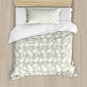 Pineapple Decor Duvet Cover Set by Ambesonne, Silhouettes