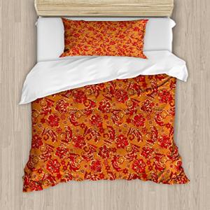 Ambesonne Batik Duvet Cover Set, Nostalgic Western European