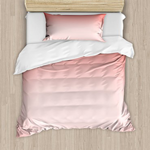 Ambesonne Peach Duvet Cover Set, Abstract Ombre Compositio