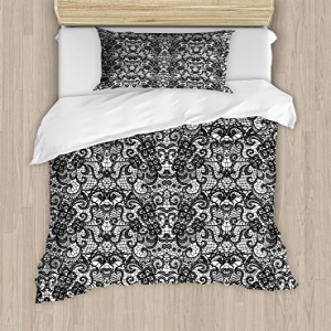Ambesonne Gothic Duvet Cover Set, Classical Bridal Composit
