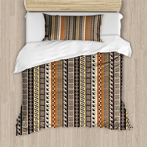Lunarable African Duvet Cover Set Twin Size, Geometrical A