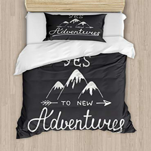Ambesonne Adventure Twin Size Duvet Cover Set, Say Yes to
