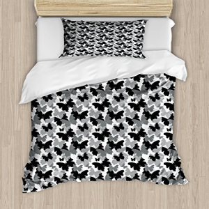 Lunarable Butterfly Twin Size Duvet Cover Set, Butterfly S
