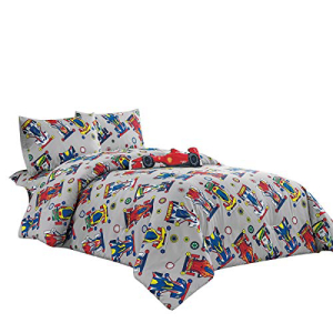 WPM Kids Collection Bedding 5 Piece Sport car Full Size Co