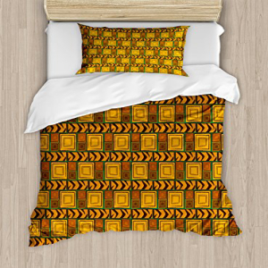 Ambesonne Zambia Duvet Cover Set Twin Size, Kenya Ethnic M