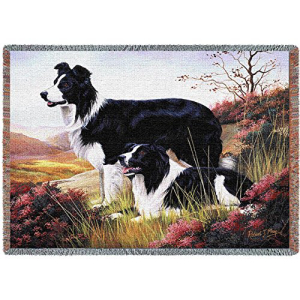 Pure Country Weavers - Border Collie Woven Tapestry Throw