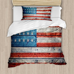 Ambesonne USA Duvet Cover Set Twin Size, July Independence