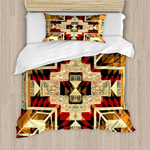 Ambesonne Arrow Duvet Cover Set, Inspired Pattern Graphic