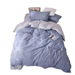 VM VOUGEMARKET Kids Duvet Cover Set Twin Blue,Premium Cott