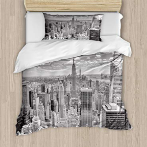 Ambesonne New York Duvet Cover Set, NYC Over Manhattan from