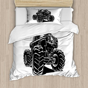 Ambesonne Truck Duvet Cover Set Twin Size, Modified Automo