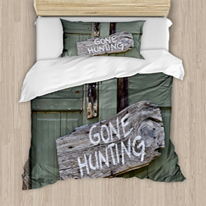 Ambesonne Hunting Duvet Cover Set Twin Size, Gone Hunting