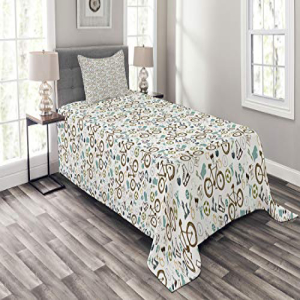 Ambesonne Sports Bedspread Set Twin Size, Hipster Sports B