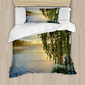 Ambesonne Nature Duvet Cover Set Twin Size, Sunny Day by M