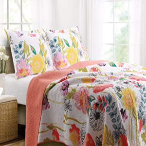 Greenland Home 2-Piece Watercolor Dream Quilt Set, Twin, M
