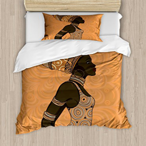 Ambesonne African Duvet Cover Set, Indigenous People of The