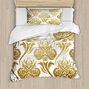 Ambesonne Damask Duvet Cover Set Twin Size, Ombre Abstract
