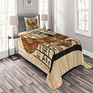 Lunarable Egyptian Bedspread Set Twin Size, Ancient Orient