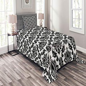 Lunarable Damask Bedspread Set Twin Size, Damask Pattern M