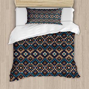Ambesonne Native American Duvet Cover Set Twin Size, Ethni