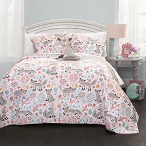 ラッピング無料 Lush Decor Pixie Fox Quilt Bed Piece Reversible 新作販売 4