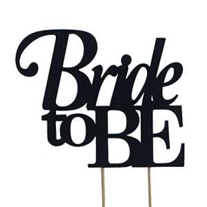 All About Details 激安 Black 激安 Bride-to-be Cake Topper