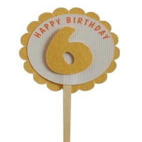 All About 再入荷/予約販売! Details ギフト 6th Birthday Set 12 Cupcake Toppers of