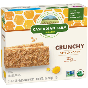 Cascadian Farm Organic Granola Bars Oats and Hon 卸売り 店内限界値引き中&セルフラッピング無料