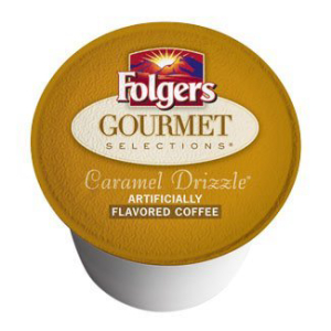 Folgers Gourmet Selectionsキャラメル霧雨Kカップ 送料0円 96カウント Selections 96 K-Cups count Drizzle Caramel 新作多数