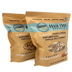 Autumn's Gold Grain Free Toasted Coconut Almond Granola 1lb 4oz (2 Pack):Glomarket