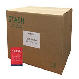 スタッシュティーイングリッシュブレックファースト紅茶1000カウントボックスのティーバッグをホイルで Stash Tea English Breakfast Black Tea 1000 Count Box of Tea Bags in Foil