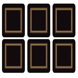 Pimpernel Classic Black Collection Coasters - Set:Glomarket