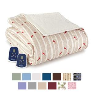 Thermee Micro 人気 Flannel 期間限定送料無料 Blanket Electric Birches