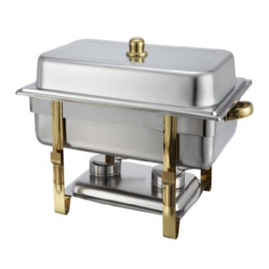 Winware 8 期間限定の激安セール SALE開催中 Quart Stainless Accented Steel Chaf Gold