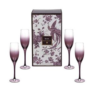 <title>Spode Kingsley Champagne Flute Glasses Set of 4 時間指定不可</title>